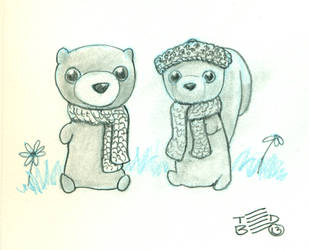 lil' critters bundled up by tedbergeron