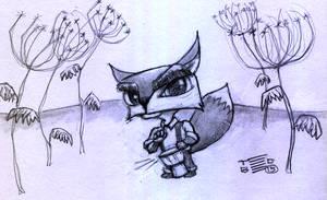 Fox Djembe by tedbergeron