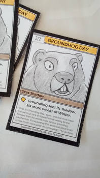 Groundhog Day 2016 Souvenir Trading Card