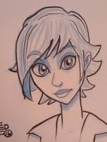 Faery sketch by tedbergeron
