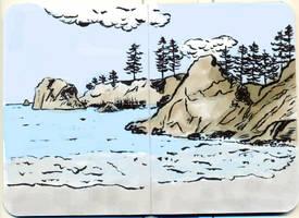 Sea Shore by tedbergeron