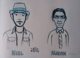 Neil and Marvin by tedbergeron