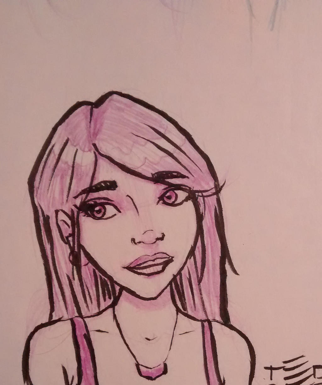 Inked sketch by tedbergeron