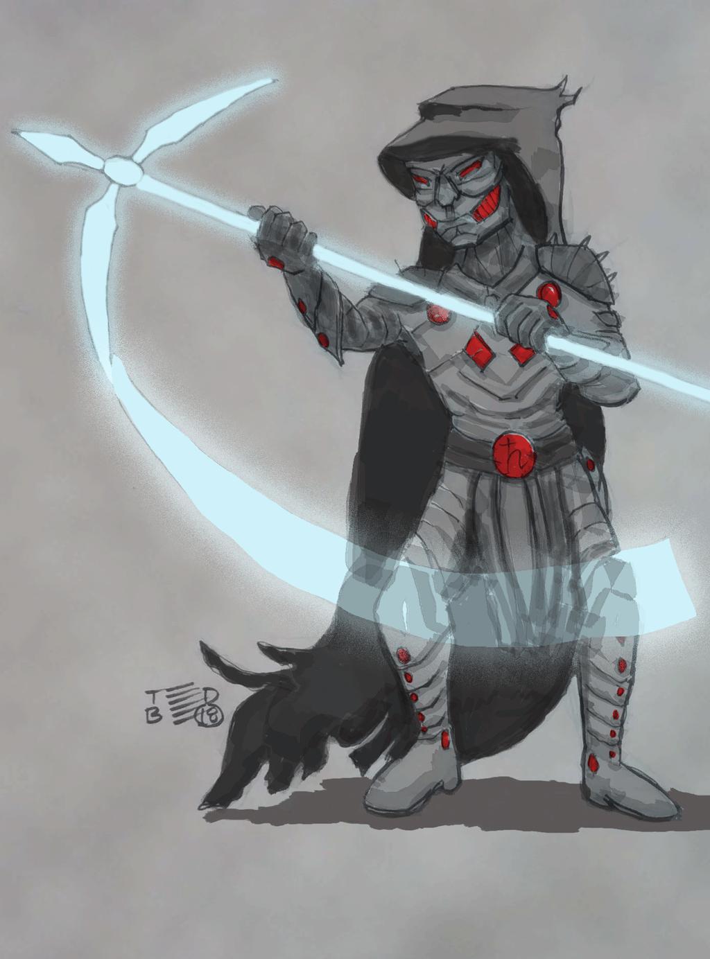 Black Suit of Death (fan art) by tedbergeron