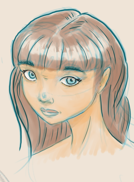 Digital sketch and painting by tedbergeron
