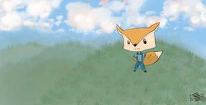 Fox on a hill