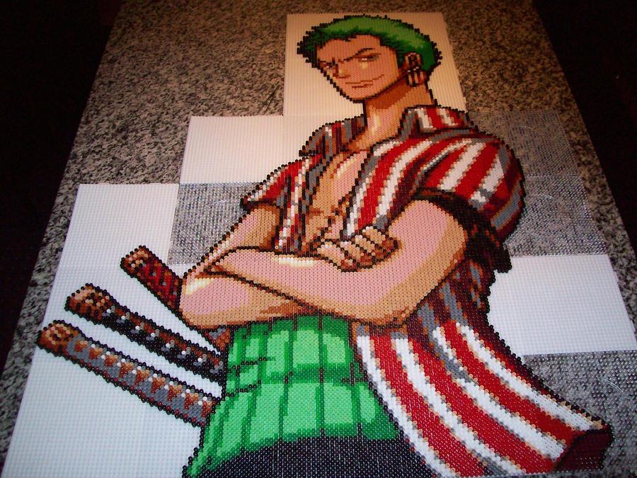 Roronoa Zorro Bead Sprite 4. by TameFlame