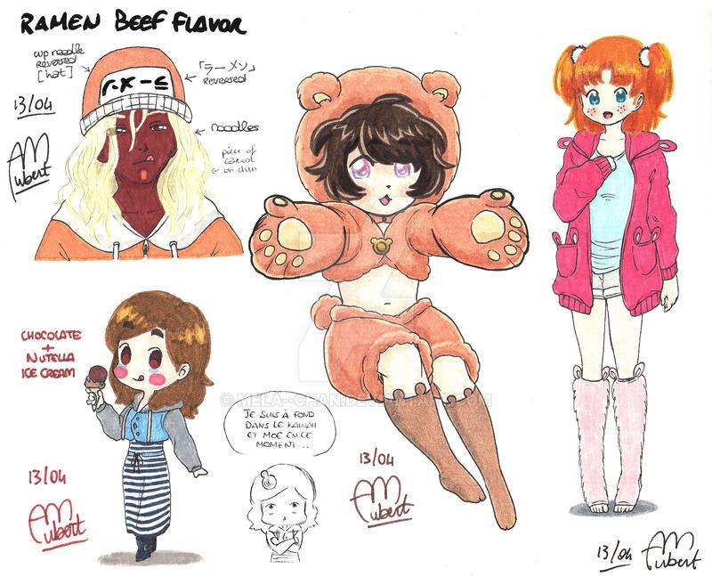 April 13th drawings by Mela--chan