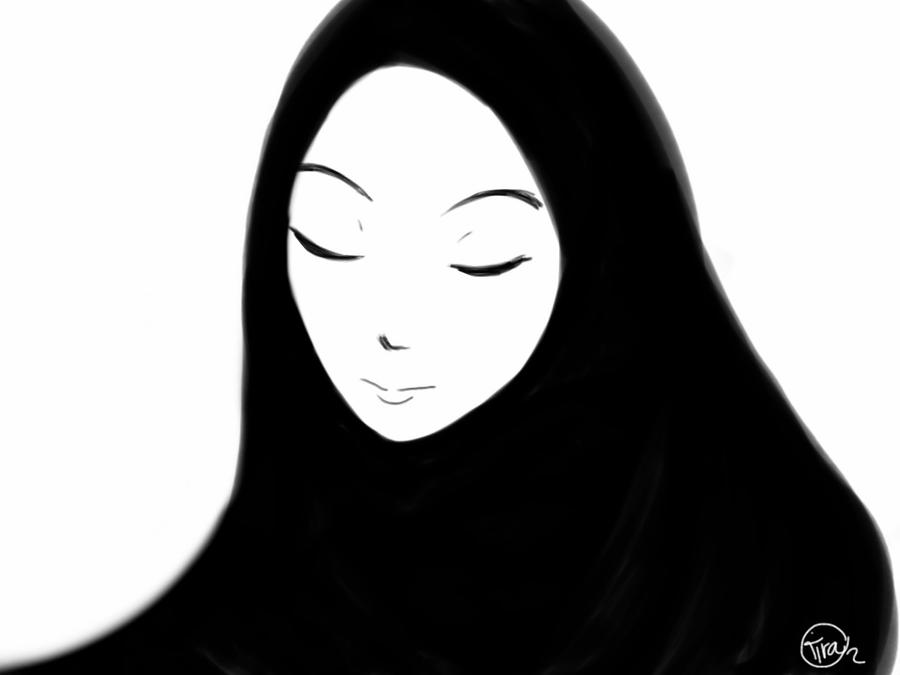 Black And White Veil Hijab By Petite Sonyeo On Deviantart