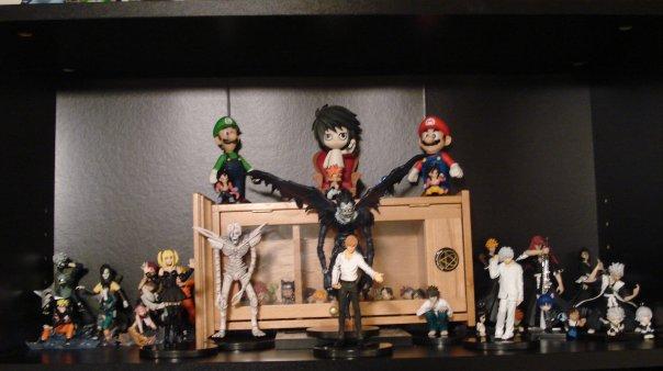 my anime toy wall by darkviruzzz