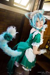 maid SINON by natsu-cchi