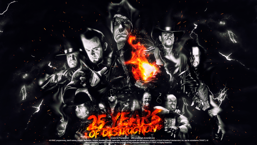 The Undertaker | 25 years of destruction by PhenomenonGFX
