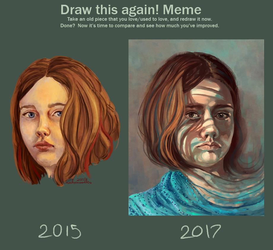 Draw This Again: Self Portrait