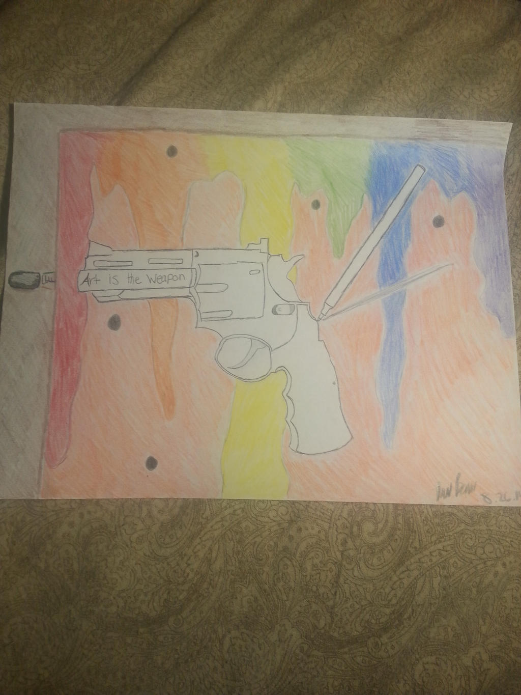 Art is the weapon by WasOriginal