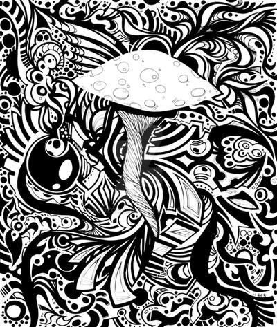coloring pages of shrooms - photo#4