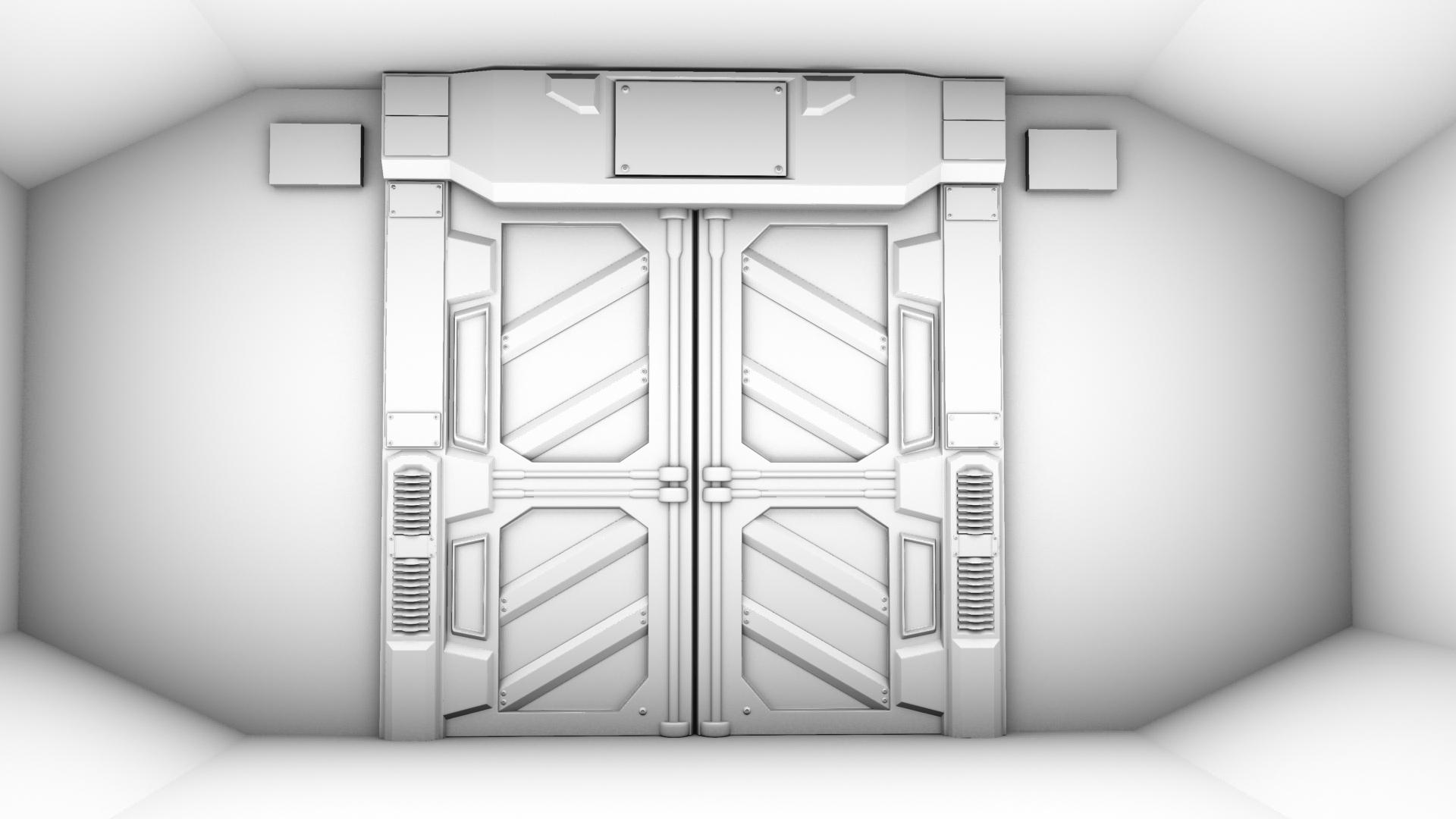 Sci-Fi Door by GladiusM on DeviantArt