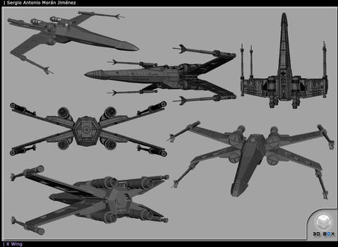 X - Wing 3D Layout