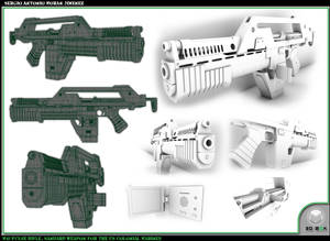Pulse Gun 3D Layout