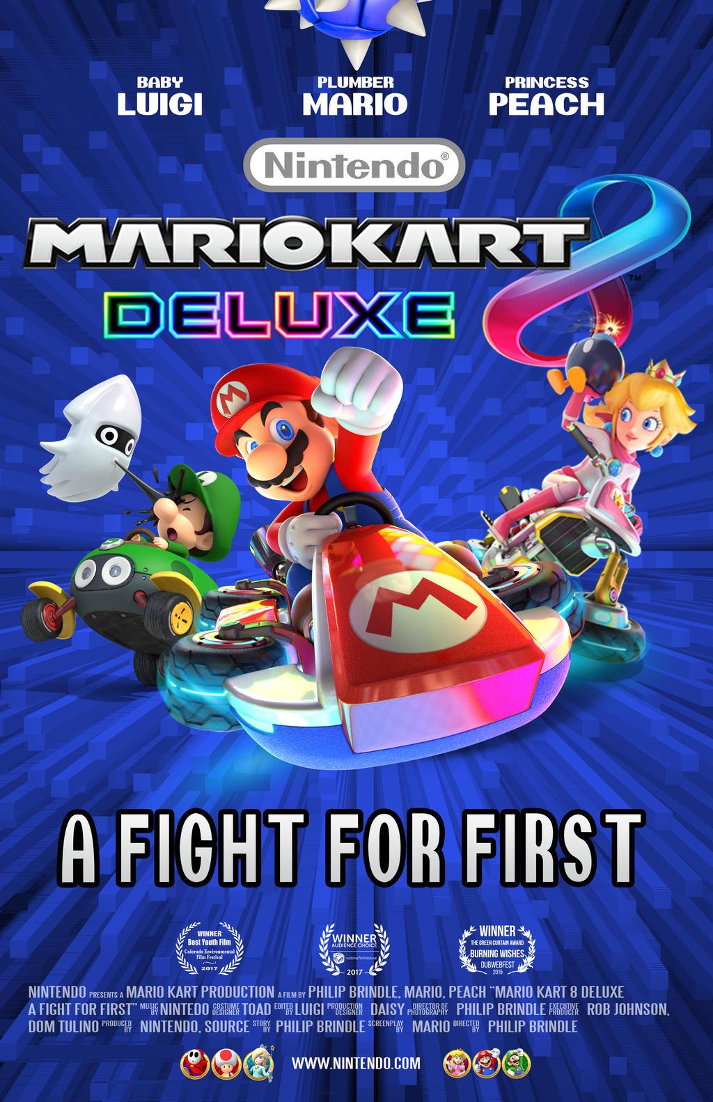Nintendo Mario Kart 8 Deluxe Movie Poster By Mawsmile On Deviantart
