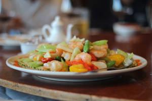 Seafood Stir Fry by AtomicBrownie