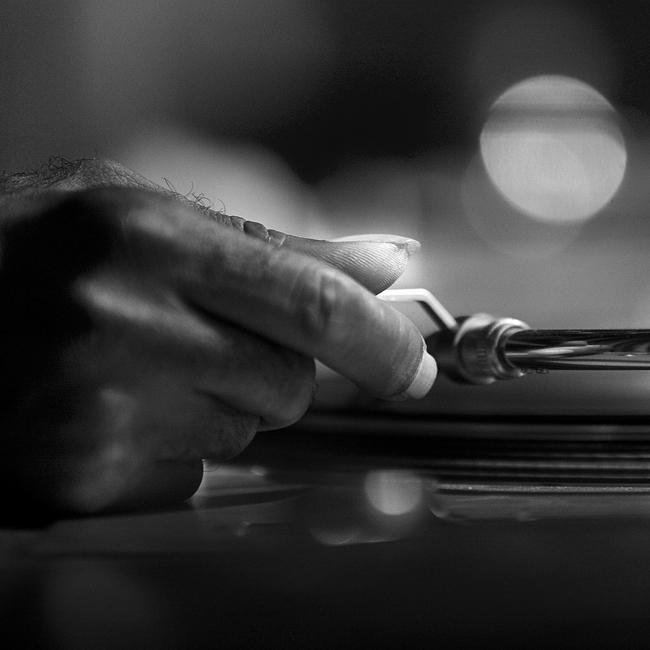 Juan Atkins's hand by grebille