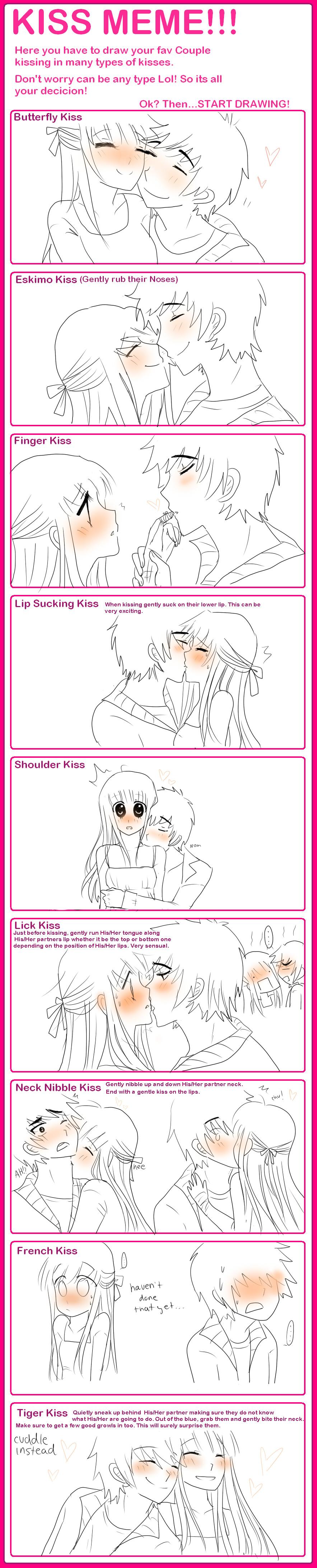 "Gizelle's Moe Art Blog — ""Midnight Kiss"" lolol i love ...  |Midnight Kiss Meme"