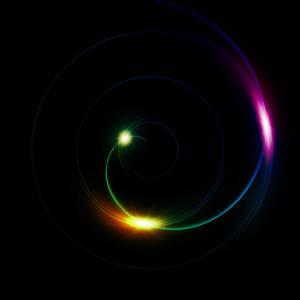 Big Swirly - Rainbow