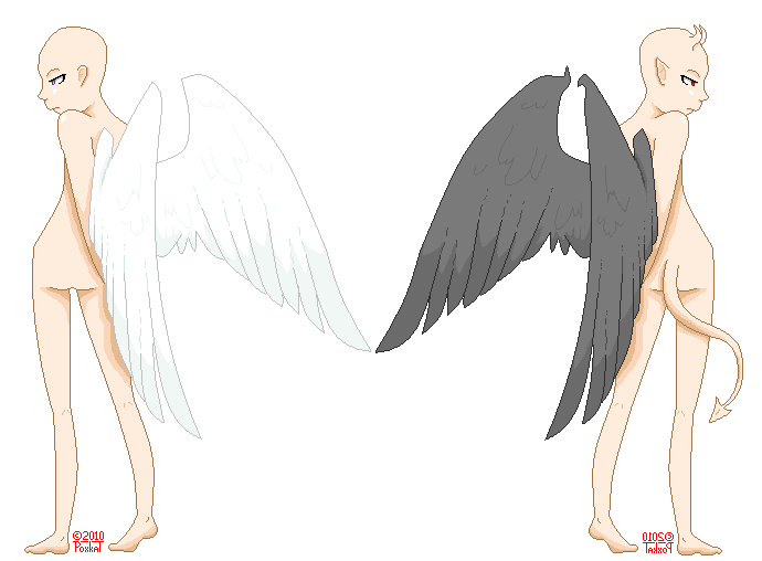 Angel v. Demon Base by Poxkat on DeviantArt