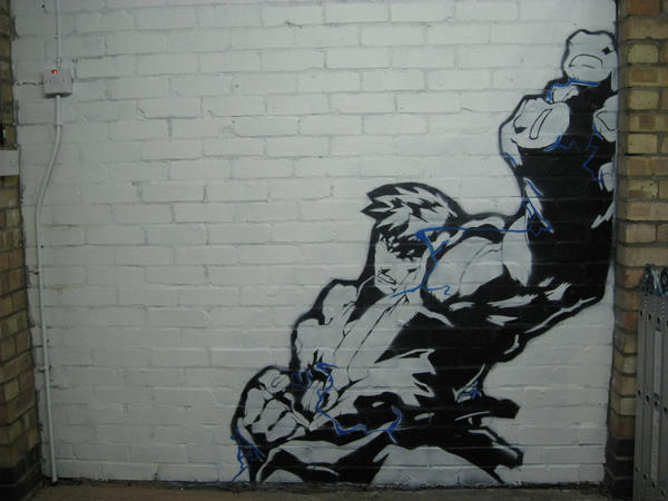 Ryu Street fighter stencil by CousticHippy