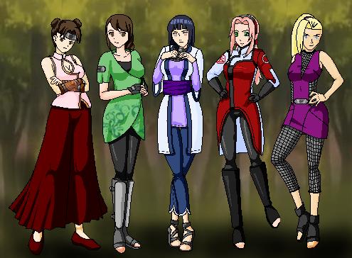 naruto girls by silverqueen on deviantart