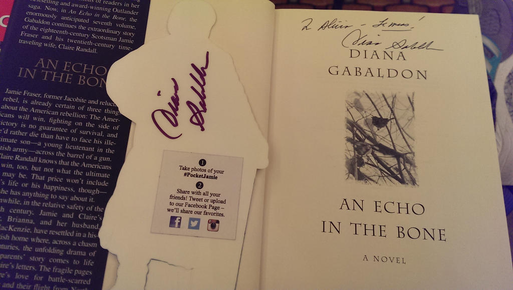 Herself signed my book and #PocketJamie by IreneAdler76
