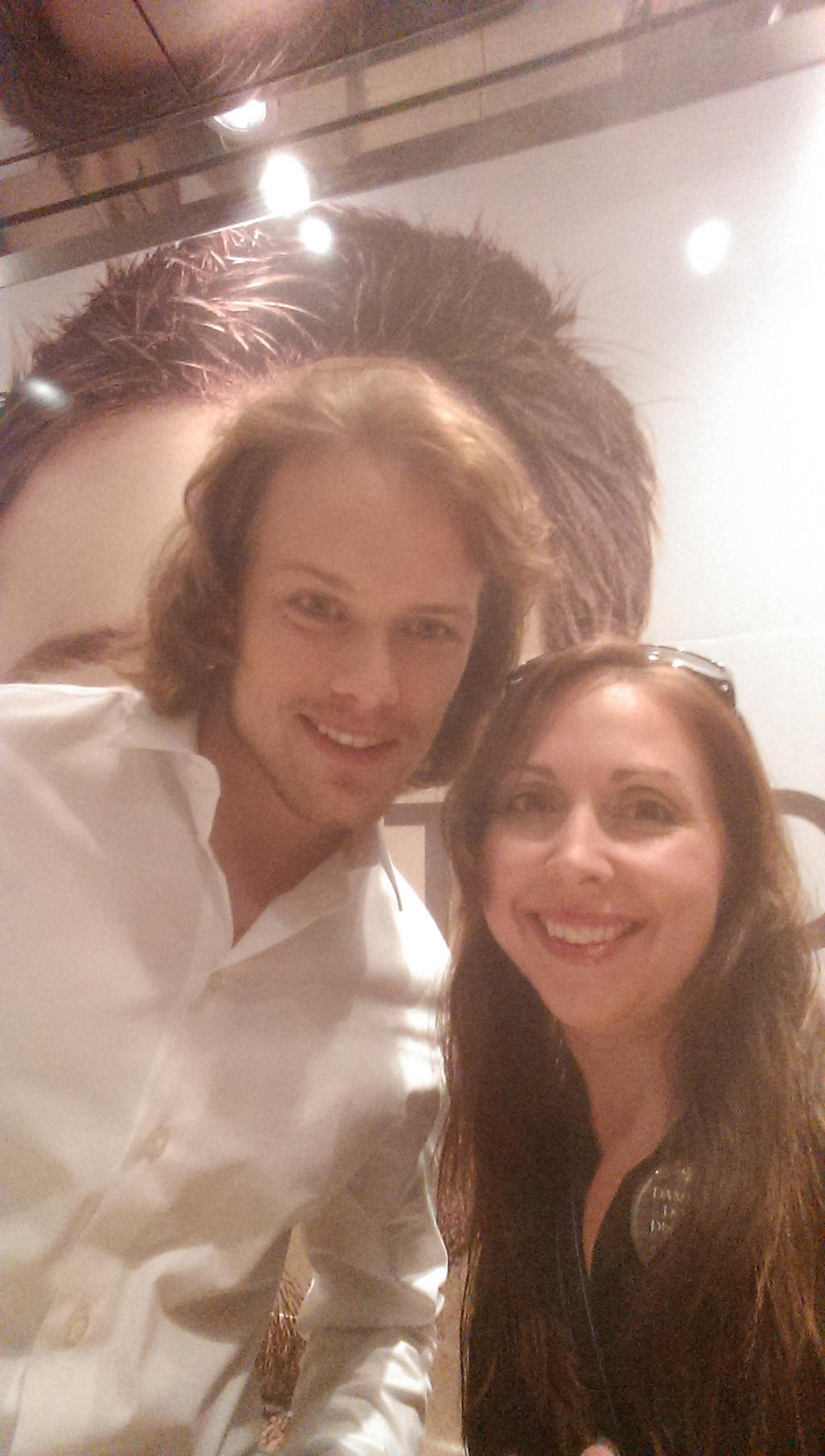 Sam Heughan and Myself by IreneAdler76