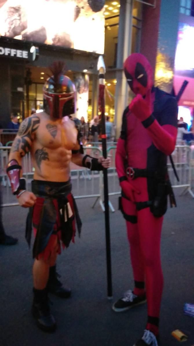 Um..Spartan Boba Fett and Deadpool by IreneAdler76