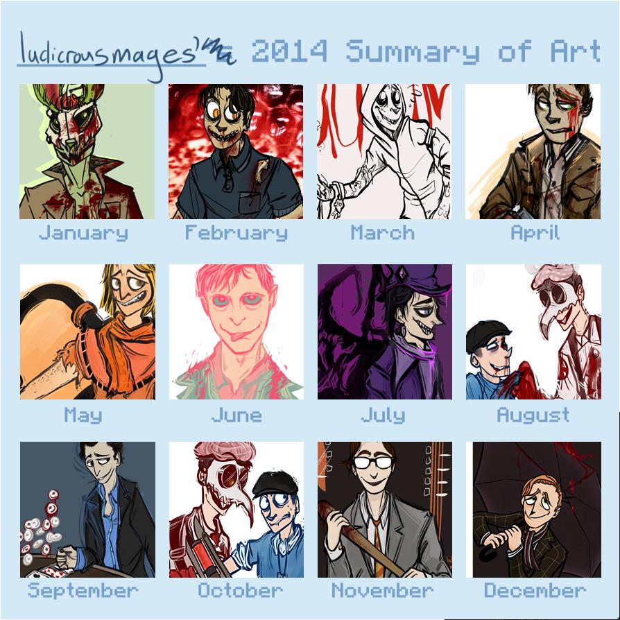 Art Summary of 2014 by Basiliskz