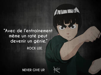 Fanart Citation Rock Lee avec posture de Bruce Lee by CapsuleCom