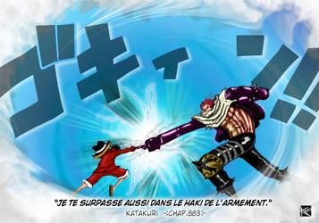 Colorisation Chap883 One Piece _ Luffy vs Katakuri