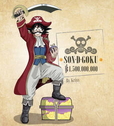 Son D Goku. Fanart crossover Db/OP