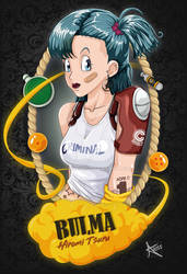Fanart PIN-UP Criminal Bulma _Dragon Ball