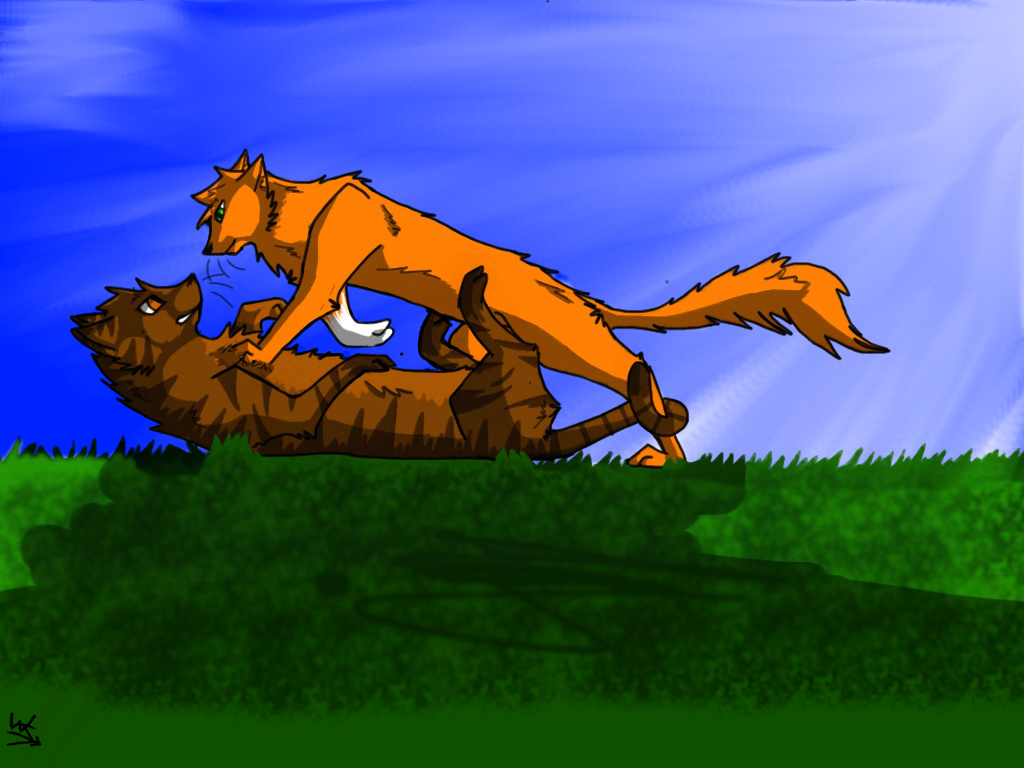 Brambleclaw and... Leafpool And Crowfeather Mating