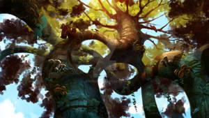 Digital Concept (Winding Roots)