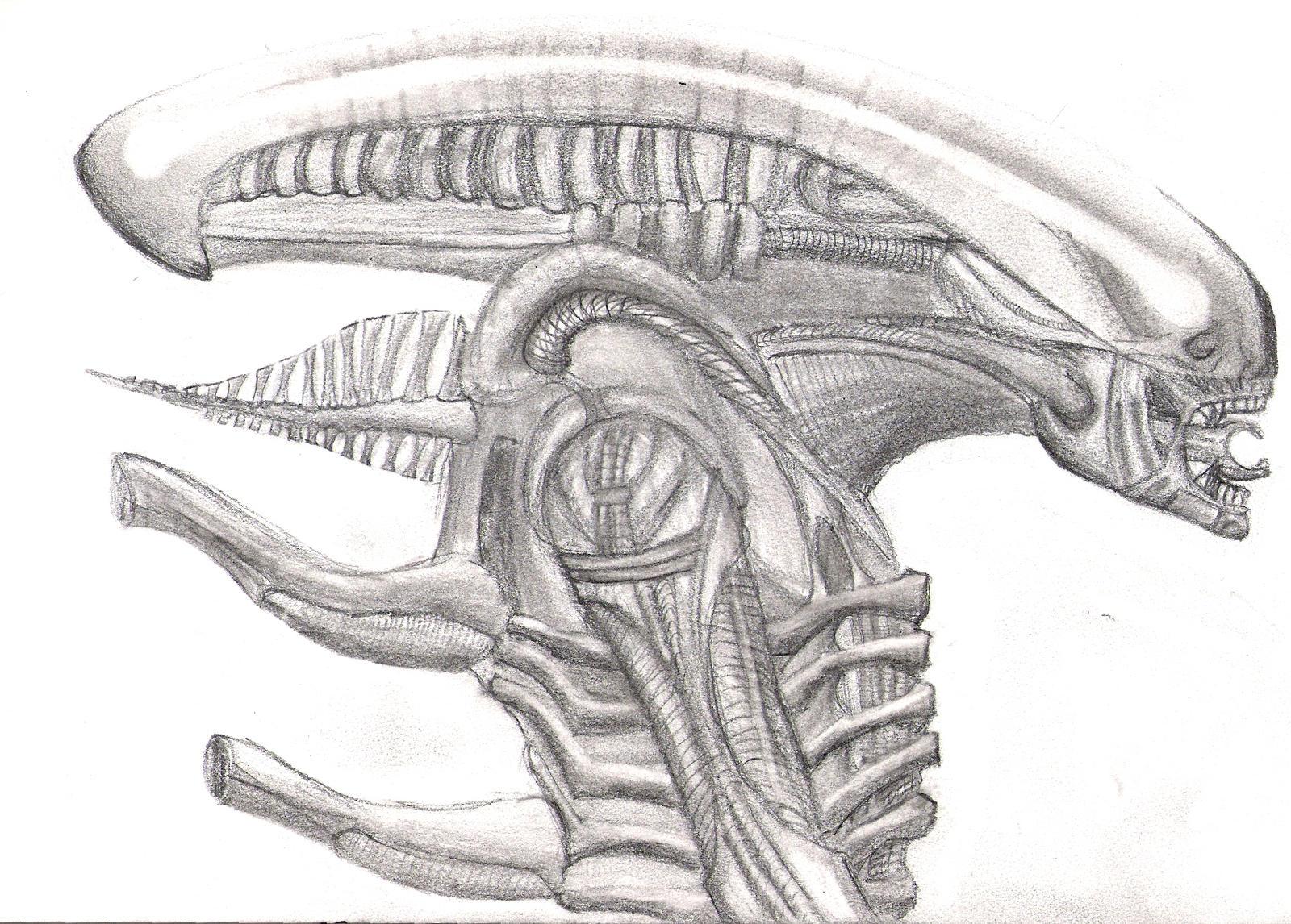 giger's alien by xalener on DeviantArt H.r. Giger Tattoo