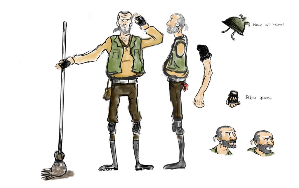 Janitor Model Sheet by bjbunn