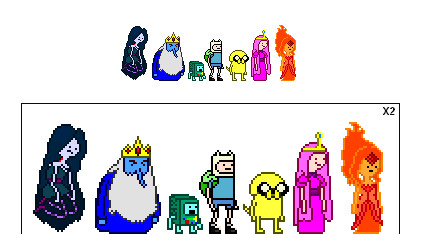 Adventure Time Sprites v2 by jugito08