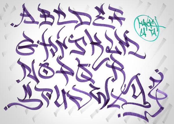bs tag alphabet by MrHavok