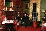 Victorian Mycroft in Victorian 221b by sleepingFrog