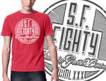 SF80 Made in GB on RED Vintage Tee MOCK-UP