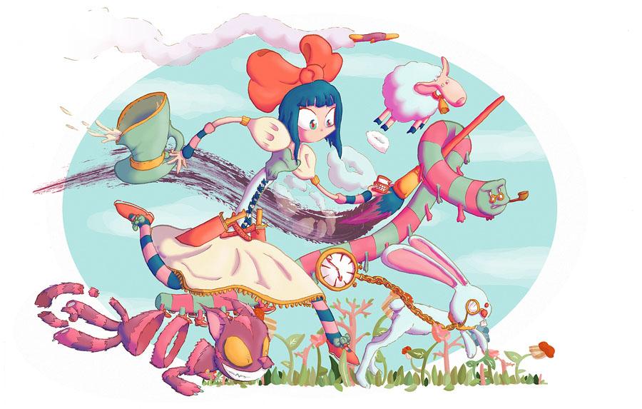 Nina's Trip in Wonderland by Platynews