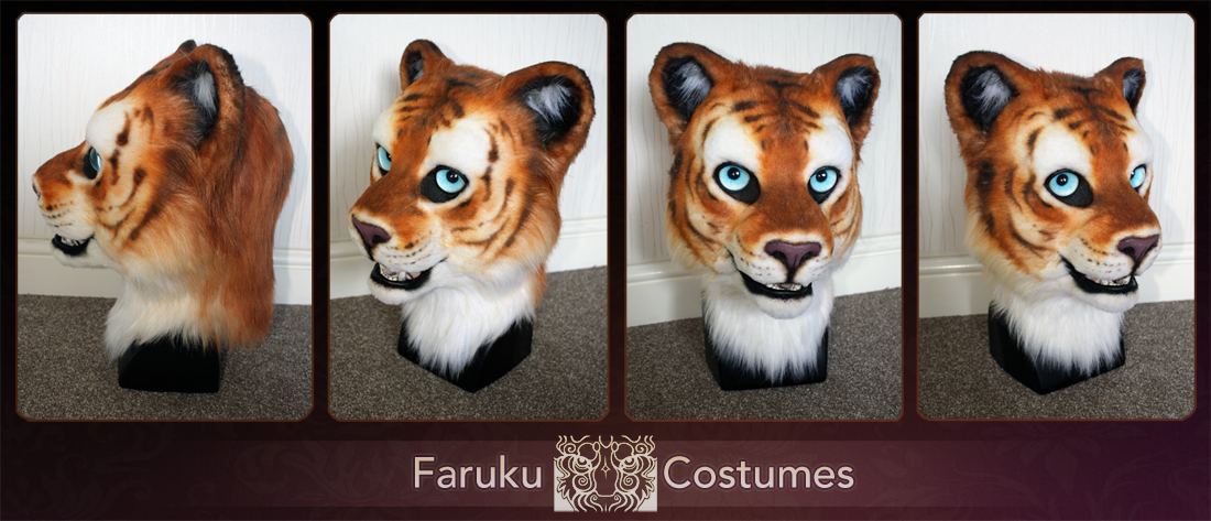 Golden Tiger head by FarukuCostumes