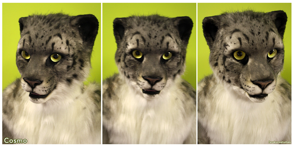 Cosmo Snow Leopard (headshots) by FarukuCostumes