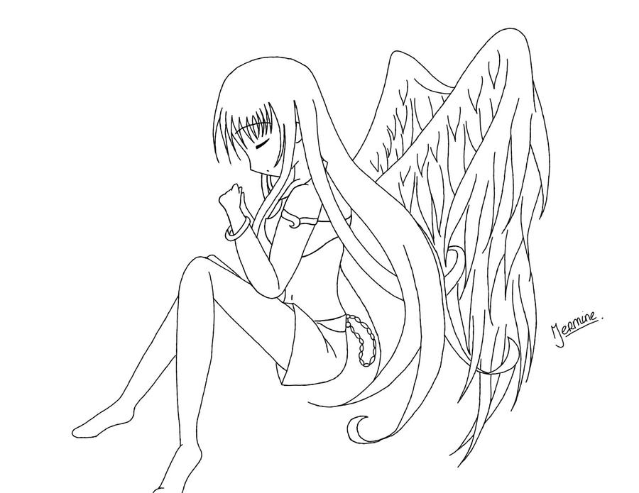 anime coloring pages angels - photo#4